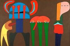 Quadro feito por Carlos Britto Velho, em 1989. Porto Alegre