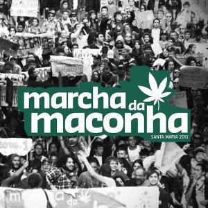 Imagem retirada do Facebook da Marcha da Maconha de Santa Maria - RS