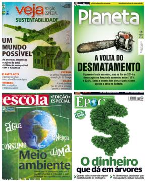 O Meio Ambiente na capa de  revistas brasileiras  Fonte: Google Imagens